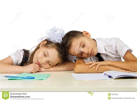 Student Sleeping On Desk by Students Are Sleeping On The Desk Royalty Free Stock Image