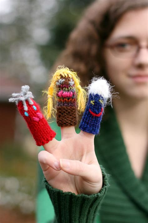 knitted finger puppet patterns  patterns