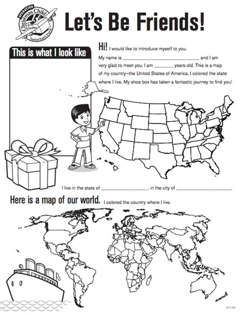 Coloring Pages For Operation Christmas Child | operation christmas child coloring sheet images