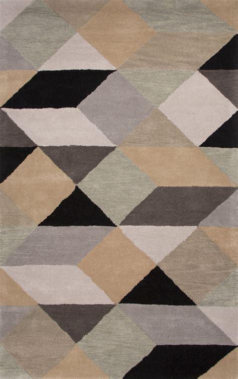 Jaipur Rugs Modern Geometric Pattern Gray Yellow Wool Area Modern Geometric Rugs