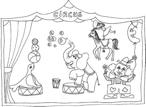 Free Circus Coloring Pages circus coloring pages coloringpages1001