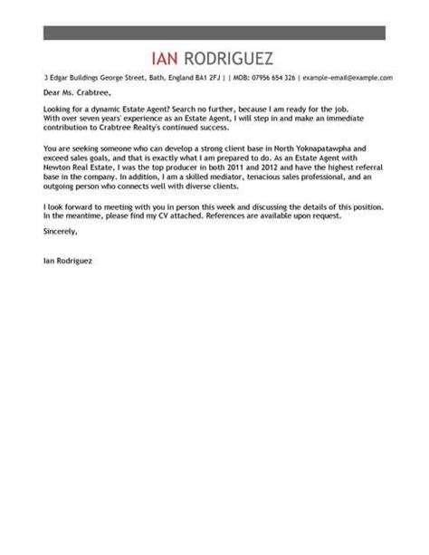 estate cover letter template cover letter