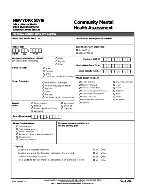 mental health assessment template mental health assessment images