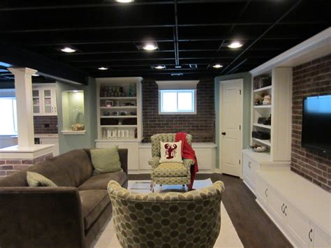 our basement eclectic family room chicago