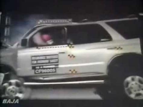 72 iihs crash test 1996 1997 1998 toyota 4runner youtube