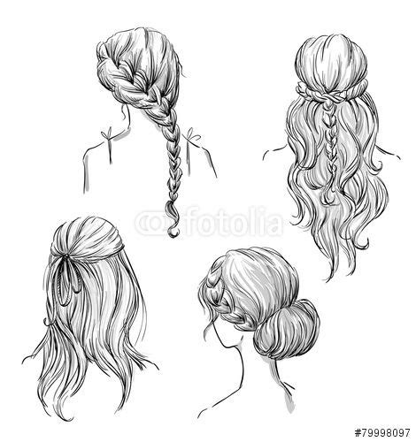 drawing hairstyles profile google search hair sketch