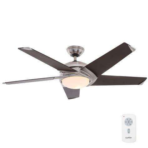 54 casablanca stealth ceiling fan casablanca stealth 54 in indoor brushed nickel ceiling