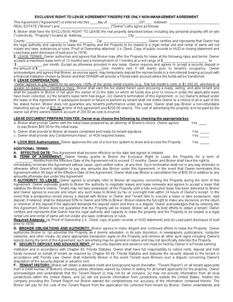 Free Florida Rental Lease Agreement Form Pdf Template Form Download Free Florida Lease Agreement Template