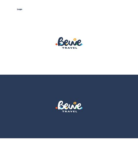 web design logo on right side bewe travel agency branding web design on behance