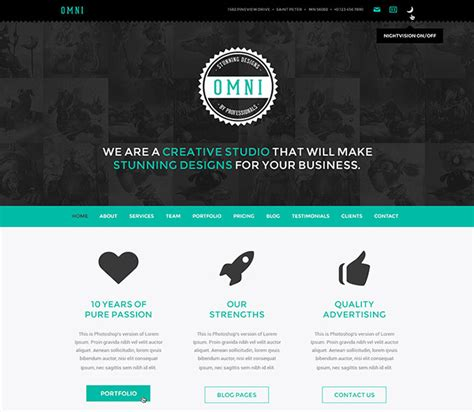 60 best single page website templates web graphic