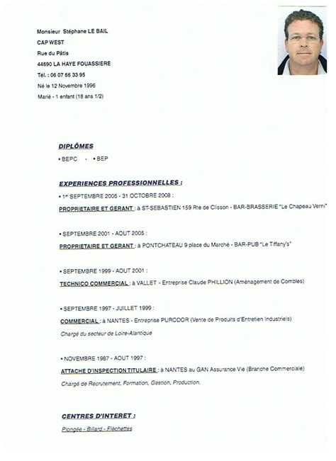 Lettre De Motivation Cqp Barman exle resume exemple cv barman