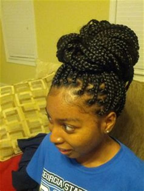 kid with medium poetic justice braids box braids color burg and 350 in rasta fri hair