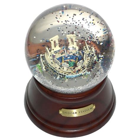 snow globe with fan dodgers snow globes los angeles dodgers snow globe