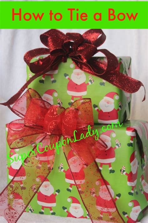 how to make the perfect christmas bow how to tie a bow for gifts coupon