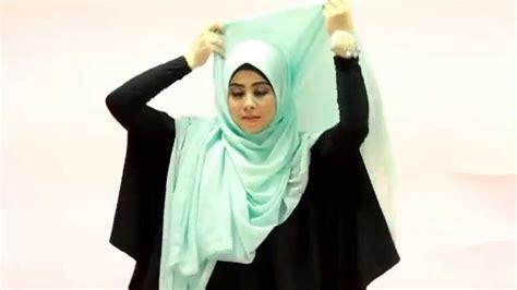 tutorial hijab pesta risty tagor tutorial hijab risty tagor syar i menutup dada youtube