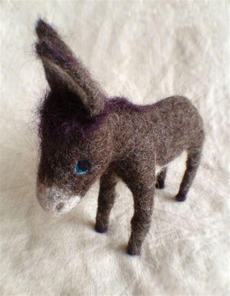 pattern for felt donkey needle felted donkey felted animals pinterest