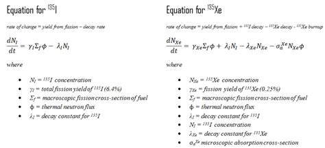 xenon 135 differential equations