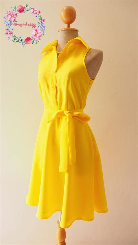 Bright Colored Wrap Dresses - yellow bridesmaid dress bright yellow dress
