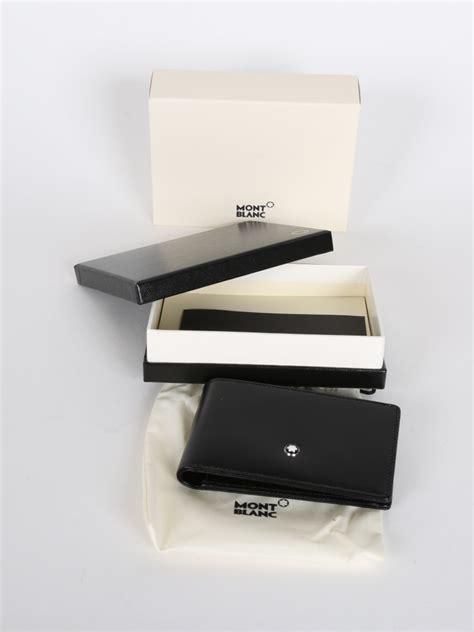 Montblanc Leather 1 montblanc mini wallet 1cc black leather luxury bags
