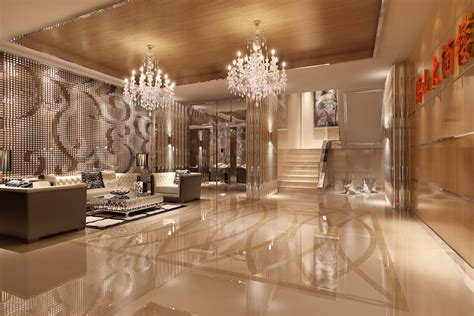 foyer or lobby foyer with luxury wall decor 3d model max cgtrader
