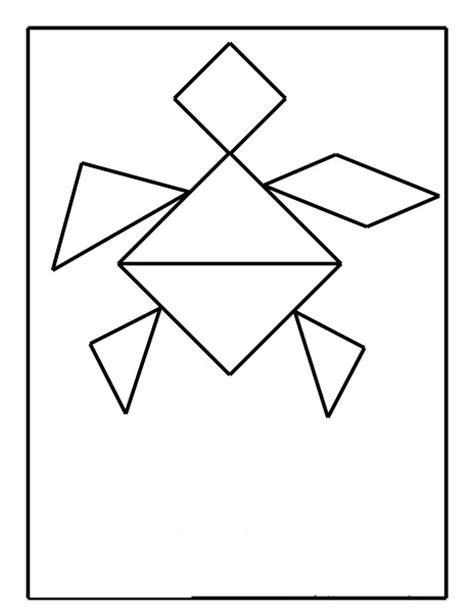 printable turtle puzzle tangram turtle 2 171 funnycrafts