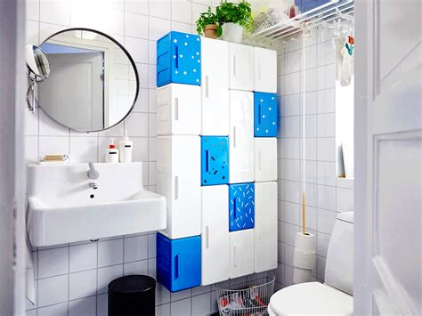 ikea badezimmer blau ikea lejen schr 228 nke in wei 223 und blau in verschiedenen