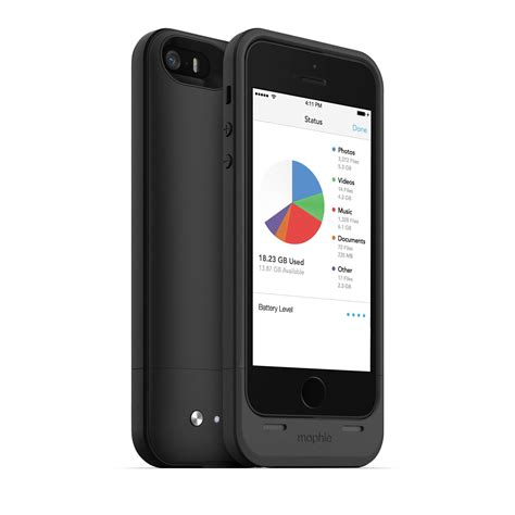 iphone 5 b mophie 32gb space pack for iphone 5 5s 2617 sp ip5 32gb blk b h