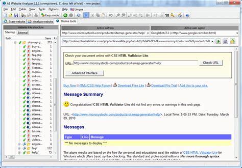 website structure tool a1 website analyzer screenshot x 64 bit