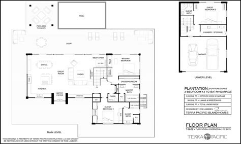 plantation style floor plans hawaiian houses hawaiian plantation style home floor plans