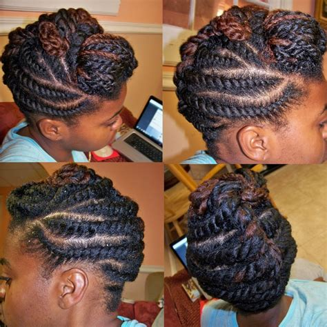 Flat Twist Updos | flat twist updo cute natural hairstyles pinterest