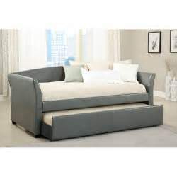 Upholstered Daybed With Trundle Furniture Of America Contemporary Leatherette Upholstered Daybed With Trundle Daybeds At Hayneedle