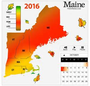 fall color map 2016 new fall foliage forecast new today