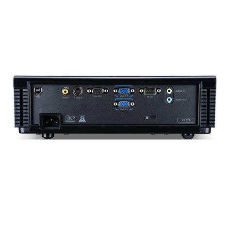 Proyektor Acer X1261n acer projectors x1261n dlp 2700lm black jakartanotebook
