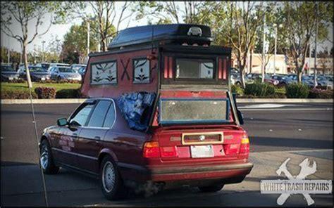Converted Garage Ideas car camper whitetrashrepairs com