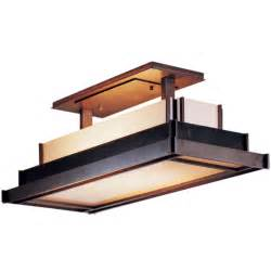 Kitchen Lighting Flush Mount Steppe Rectangle Semi Flush Ceiling Lightart Glass Availabl By Hubbardton Forge 123709 07 B417