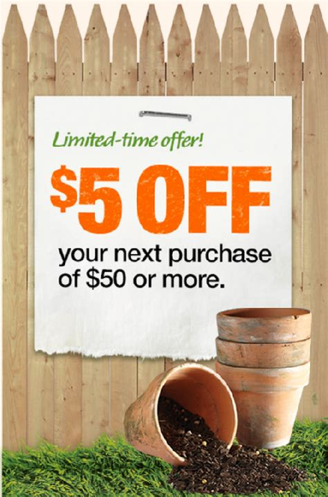 couponing home depot garden club sales