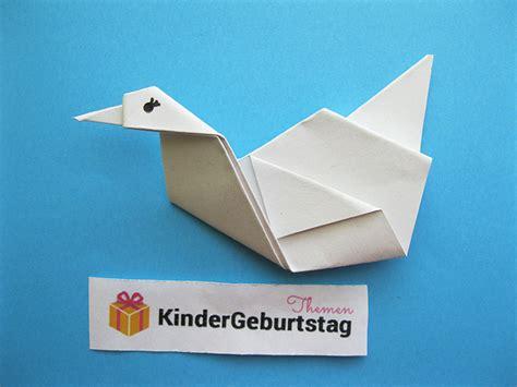 Origami Schwan - schwan falten bastelanleitung f 252 r origami tier aus papier