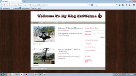 membuat desain website berbasis html dengan notepad cara membuat desain template blog menggunakan notepad