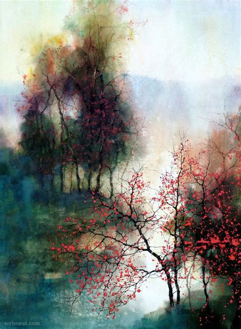 beautiful landscape paintings 15 beautiful watercolor landscape paintings by zl feng