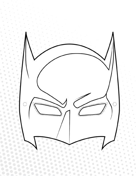 mask template pdf batman mask template for free page 2