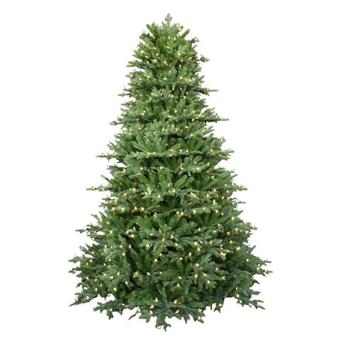 home depot alexandria pine tree 7 5 ft pre lit led royal fraser fir artificial tree with warm white lights 4205101