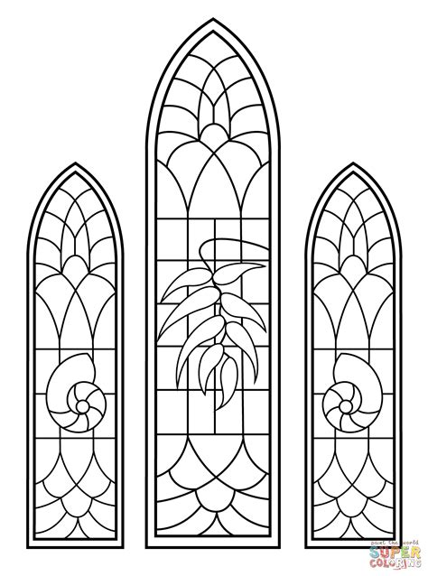 stained glass christmas  color black  white clipart