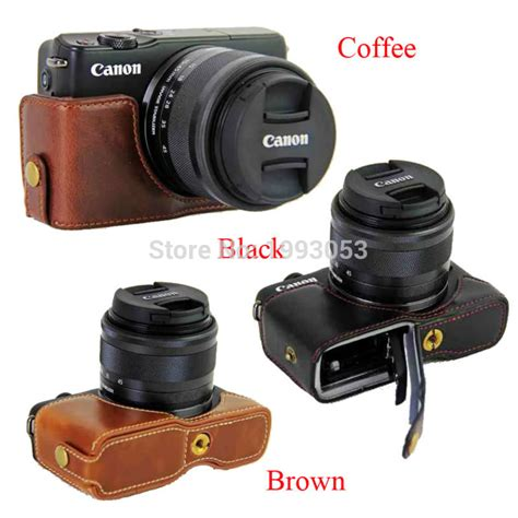 New Arrival Leather For Canon Eos M10 Kit 15 45mm aliexpress buy new pu leather half for