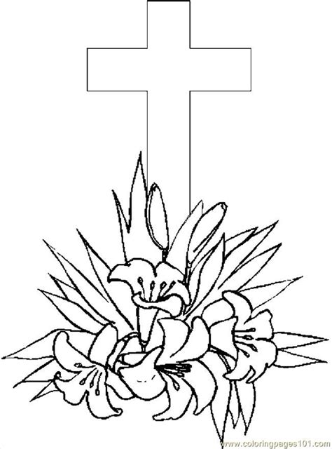 coloring pictures of easter lilies easter cross coloring pages coloring home