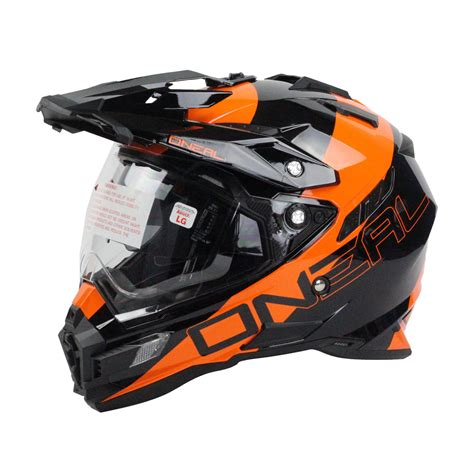 motocross helmet oneal 2016 dual sport edge black orange motocross
