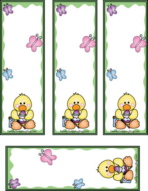 printable easter bookmarks easter duck bookmarks 436954 jpg