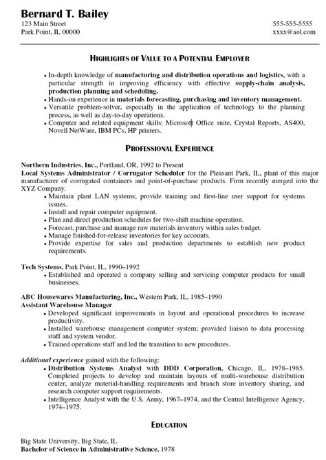 systems administrator resume template