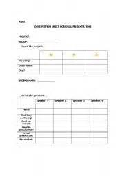 english teaching worksheets self evaluation
