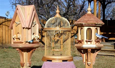 bird house cage  feeder woodworking plans forest