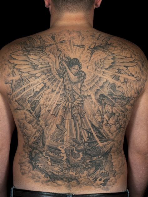 20 protecting st michael tattoos